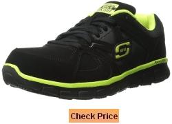 Skechers for Work Mens Synergy Ekron Alloy Toe Work Shoe