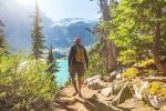 Man Hiking in Canada