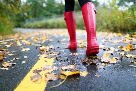 Wearing Rain Boots in the Rain