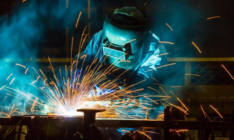 Welder in Automotive Factory