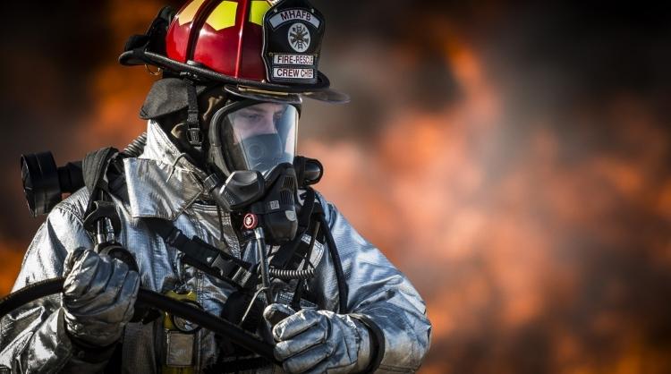 Fireman Wearing PPE