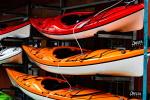 Kayaks Stored Vertically